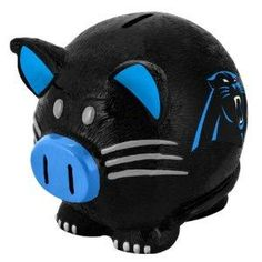 Carolina Panthers NFL Large Thematic Piggy Bank NEW FREE SHIPPING