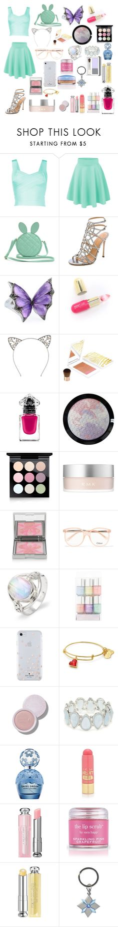 """""""ButterBunCat Lover"""" by chara-johnson ❤ liked on Polyvore featuring Sergio Rossi, Stephen Webster, Winky Lux, Sisley, Guerlain, MAC Cosmetics, RMK, Chloé, Kate Spade and Kim Rogers"""