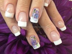 White+acrylic+tips+with+aquarelle+nail+art