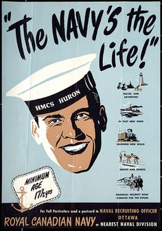 For you Dad ♥ Royal Canadian Navy recruitment poster, WWII era Royal Canadian Navy, Canadian Army, Canadian History, Royal Navy, Ww2 Propaganda Posters, Peace Poster, Old Ads, World War Two, Vintage Ads