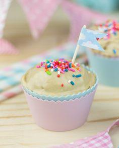 Objetivo: Cupcake Perfecto.: Helado de Mantequilla de Cacahuete (sin necesidad de heladera)con nata de soja