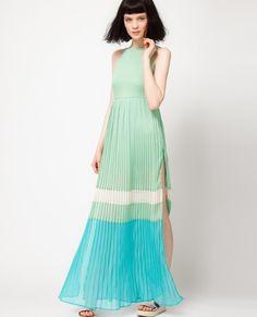 Color Blocking Maxi Style