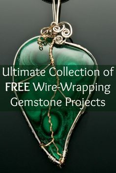 Jewelry Trends, Techniques and Tutorials If you like wire wrapping, then you'll LOVE these 3 FREE gemstone wrapping projects!If you like wire wrapping, then you'll LOVE these 3 FREE gemstone wrapping projects! Wire Jewelry Making, Jewelry Making Tutorials, Jewelry Making Supplies, Bijoux Wire Wrap, Wire Wrapped Jewelry, Sea Glass Jewelry, Metal Jewelry, Jewlery, Gemstone Jewelry