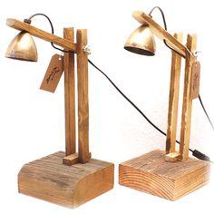 Bureaulamp messing, verstelbaar. Gerecycled / Handgemaakt / Bureaulamp.