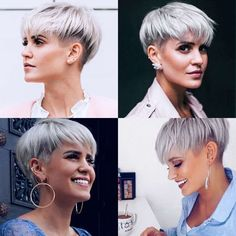 Bouffant hair bob pixie hairstyles longer,cornrows hairstyles ponytail inverted bob hairstyles,hairstyles for homecoming how to cut a pixie haircut. Grey Hair Dye, Dyed Hair, Short Gray Hair, Short Hair Cuts For Women, Short Hairstyles For Women, Short Haircuts, Hairstyle Short, Short Hair Plus Size, Pixie Hairstyles