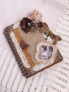 Altered Junk Journal/Diary Handcrafted Shabby Chic, Vintage Style - Perfect Gift for Student, Friend, Daughter, Wife by ThePurplePapillon on Etsy