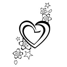 Hearts Tattoo Ideas....add another heart but remover the flowers.