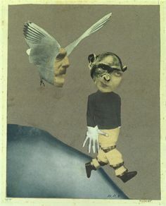 """Flight"" by Artist Hannah Höch . Artist Hannah Höch was a true trailblazer of photomontage. Dada Collage, Collage Artists, Illustrations Poster, Illustration Art, Photomontage, Dadaism Art, Hannah Hock, Hannah Hoch Collage, Dada Artists"