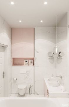 27 Interior Bathroom For Starting Your Home Improvement – Home Decoration Experts – Marble Bathroom Dreams Bad Inspiration, Bathroom Inspiration, Modern Bathroom, Small Bathroom, Marble Bathrooms, Bathroom Sinks, Bathroom Remodeling, Blush Bathroom, Bathroom Pass