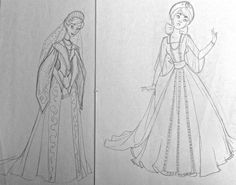 Film: Anastasia =====  Character: Anya/Anastasia =====  Notes: I just love both of these costume designs so much.