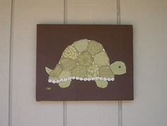 Turtle Side #1 Fabric Wall Art by CottonwoodCove on Etsy