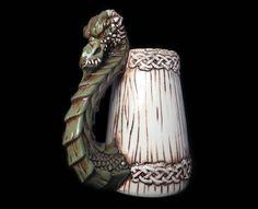 Dragon Beer Mug Smaug Fantasy mug Fantasy stein by KachaktanoMugs