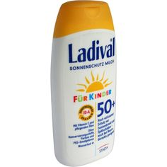 LADIVAL Kinder Sonnenmilch LSF 50+:   Packungsinhalt: 200 ml Milch PZN: 03518648 Hersteller: STADA GmbH Preis: 14,54 EUR inkl. 19 % MwSt.…