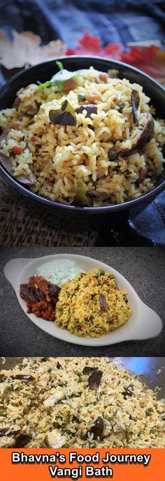 Have you ever tried adding brinjal/eggplant to your rice dish? You are missing out big time. This is a healthy and tasty vangi (eggplant/brinjal) bath (rice) dish which is very popularly dish prepared in Maharashtrian and Karnataka cuisine. This dish is prepared using a rich blend of spices. It's a one pot soul satisfying meal. It's vegan and gluten free. Coriander Seeds, Curry Leaves, Vegetarian Cooking, Karnataka, Rice Dishes, Big Time, One Pot Meals, Fried Rice, Eggplant
