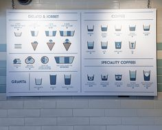 We love the graphic illustration on this menu :: here design