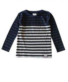 Mads Norgaard t-shirt met blauwe en grijze strepen