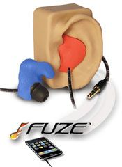 Fuze Custom Fit Molded Earphones Headphones Affordable do-it-yourself Custom Molded earphones for sports, motorsports, motorcycle helmet speakers, driver earpieces Fuse earfuze.com