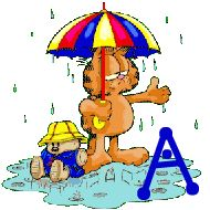 Oh my Alfabetos!: Alfabeto de Garfield bajo la lluvia.