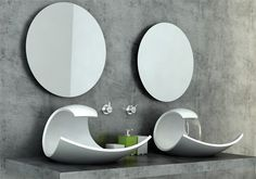 Eaux Eaux Sink by Joel Roberts  Panorama Ellipse Oval Ceramic Bathroom Sink  $360 USD  Simple. Clean. Perfect for any bathroom.