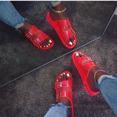 Cute slides for any occasion Cute Sandals, Shoes Sandals, Shoes Sneakers, Hype Shoes, Fresh Shoes, Summer Shoes, Summer Sandals, Types Of Shoes, Shoe Collection