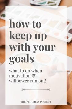 "One question we get a lot is ""How do I stay motivated with a project or goal?"" People find that they start something with a lot of energy and enthusiasm and then as the feelings of motivation"