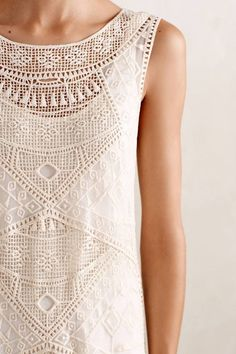 Anthropologie's New Arrivals: Clothing - Topista Love this. Simple yet intricate. Casual Outfits, Cute Outfits, Fashion Outfits, Womens Fashion, Mode Style, Style Me, Paisley, Lace Tops, Dress To Impress