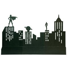 "The Sky's the Limit City Skyline KitThe Sky's the Limit City Skyline Kit includes a city silhouette with two heroes of the night keeping watch over the city. The Sky's the Limit City Skyline measures 5'6"" h x 28' x 12"" d. NOTE: This kit requires the use of sandbags or weights for maximum stability. Assembly time: 3 hours, 2-3 people   $139 ea"