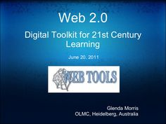 14 best digital toolkit images on pinterest 21st century learning web digital toolkit for century learning june 2011 glenda morris olmc heidelberg australia malvernweather Gallery