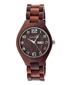 Look at this Red Sapwood Bracelet Watch on #zulily today!