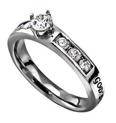 'God's Love' - Princess Solitaire Ring