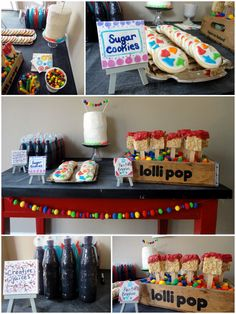 Art Themed Party ~ Love the artist's easel!
