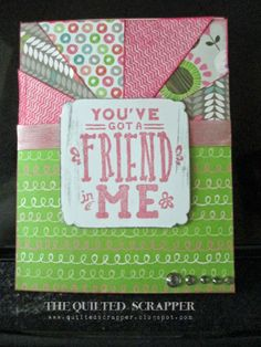 "Close to My Heart Lollydoodle Card and May Stamp of the Month-""You've Got a Friend in Me."""