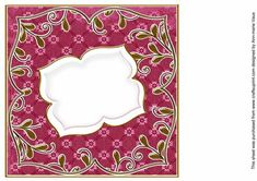 Hot Pink Daisy Fancy 8in Insert Panel  on Craftsuprint designed by Ann-marie Vaux - I have designed this insert panel for your 8x8in cards and to mix and match with many of my designs including my card fronts and stackers, or use them with any of your projects. Simply cut out and attach using flat glue to the inside of your card. Lots of colour choice available, please check the multi link to see them. - Now available for download!