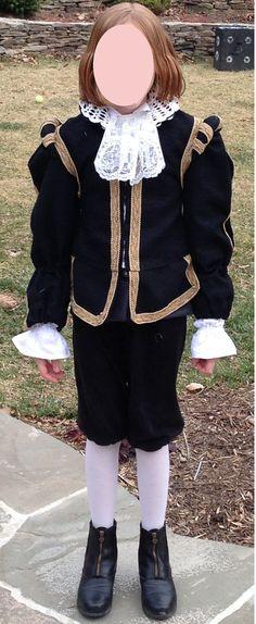 Custom Made Child or Teen Shakespeare 4pc Costume Doublet, waistcoat Vest, Shirt, Breeches