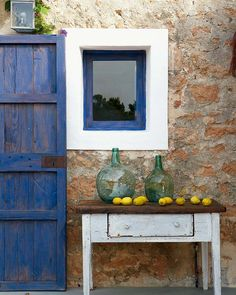 Love the color blue and the rustic hues.