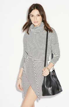 Finders Keepers Tightrope Skirt in Black & White Stripe XS - M | DAILYLOOK