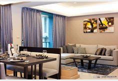 原美館--美式現代 生活美學_美式風設計個案—100裝潢網 Couch, Curtains, Furniture, Home Decor, Settee, Blinds, Decoration Home, Sofa, Room Decor