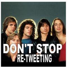 Queen loves re-tweeting!