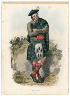 Clans of the Scottish Highlands 1847 Plates 1-54, Plate 011 :: Costume Institute Fashion Plates