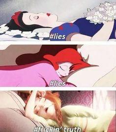 Lie disney ariell snow white anna frozen