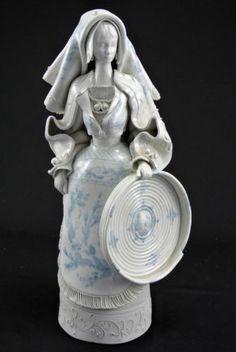 RARE Handmade Painted Signed Fabio Mola Italian Sardinian Ceramic Figurine FTA | eBay