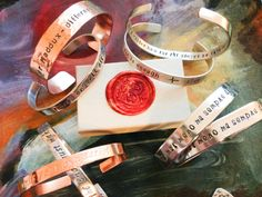 Hand Stamped Bracelet  Custom Hand Stamped by BlueCornerCreasigns