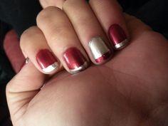 Red and silver♡ My Nails, Nail Art, Silver, Red, Beauty, Nail Arts, Beauty Illustration, Nail Art Designs, Money