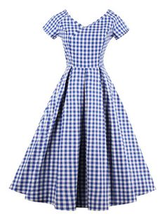 Find VINFA Women's Vintage V Neck Gingham Plaid A Line Swing Party Dress online. Shop the latest collection of VINFA Women's Vintage V Neck Gingham Plaid A Line Swing Party Dress from the popular stores - all in one Women's Dresses, Spring Dresses, Cheap Dresses, Elegant Dresses, Blue Dresses, Dresses For Work, Linen Dresses, Girls Dresses, Robe Swing