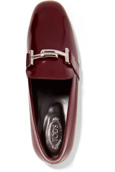 Tod's - Patent-leather Loafers - Burgundy - IT