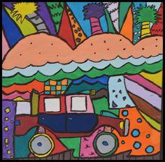 7th grade Romero Britto Inspired Painting