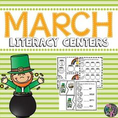 Use these March themed literacy centers to practice foundational skills during small group time.