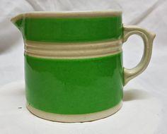 Fowlerware Australia. Rare 1930s Green and White Jug.