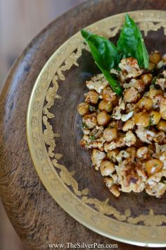 Friday's Fixin's: Roasted Cauliflower and Chickpeas with Mustard and Parsley