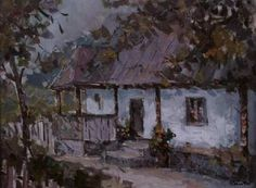 Andrei Branisteanu  - Casa Bunicii Painting, Art, Houses, Art Background, Painting Art, Kunst, Paintings, Performing Arts, Painted Canvas